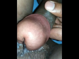 My cock playing with honey pussy Part 1